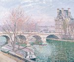 The Pont-Royal and the Pavillon de Flore, 1903 (oil on canvas Fine Art Print by Camille Pissarro