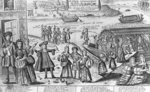 The Sad Embarkation of the Prostitutes of Paris to the French Colonies of New Orleans and their Farewells to their Doctors, Apothecaries and Lovers Fine Art Print by English School