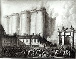 Siege of the Bastille, 14th July 1789 (w/c on paper) (b/w photo) Postcards, Greetings Cards, Art Prints, Canvas, Framed Pictures, T-shirts & Wall Art by Pierre-Antoine Demachy