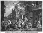 The Election II; Canvassing for Votes, engraved by Charles Grignion (1717-1810) 1757 (engraving) (b/w photo) (see also 1997) Wall Art & Canvas Prints by Thomas Bowles