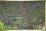 Waterlilies at Sunset, detail from the right hand side, 1915-26 Fine Art Print by Claude Monet