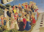 The Last Judgement (tempera on panel) (detail) Wall Art & Canvas Prints by Fra Angelico