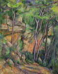 In the Park of Chateau Noir, c.1896-99 (oil on canvas) Wall Art & Canvas Prints by Paul Cezanne