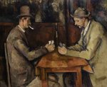 The Card Players, 1893-96 (oil on canvas) Wall Art & Canvas Prints by Paul Cezanne