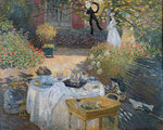 The Luncheon: Monet's garden at Argenteuil, c.1873 Fine Art Print by Nicolas Lancret
