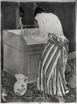 La Toilette, 1891 (drypoint and acquatint on paper) (b/w photo) Postcards, Greetings Cards, Art Prints, Canvas, Framed Pictures, T-shirts & Wall Art by Charles E. Hardaker