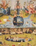 The Garden of Earthly Delights: Allegory of Luxury, detail of the central panel, c.1500 Fine Art Print by Hieronymus Bosch