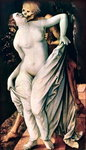 Woman and Death, c.1517 (tempera on panel) Wall Art & Canvas Prints by Pietro Perugino