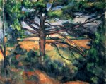 The Large Pine, 1895-97 (oil on canvas) Postcards, Greetings Cards, Art Prints, Canvas, Framed Pictures, T-shirts & Wall Art by Paul Cezanne
