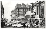 Day of 13 Vendemiaire an IV (5th October 1795), shoot-out before St. Roch church in Paris, engraved by Jean Duplessi-Bertaux (1747-1819) (etching) (b/w photo)