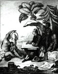 Pierre Sonnerat Drawing a Bird, from 'Voyage a la Nouvelle-Guinee', engraved by Marie Therese Martinet (b.1731) 1776 (engraving) (b/w photo) Postcards, Greetings Cards, Art Prints, Canvas, Framed Pictures, T-shirts & Wall Art by Paul Gauguin