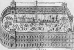 The Circus Maximus in Rome, c.1600 (engraving) (b/w photo) Fine Art Print by Thomas Couture