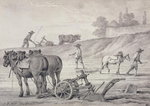 Ploughing the Fields Fine Art Print by Jacopo Bassano