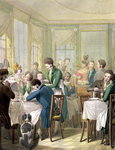 The Restaurant in the Palais Royal, 1831 (w/c on paper) Fine Art Print by Kelly Hoppen