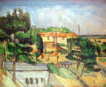 Viaduct at Estaque Wall Art & Canvas Prints by Paul Cezanne