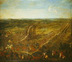 Battle of Fleurus, 1st July 1690 (oil on canvas) Wall Art & Canvas Prints by Jean Antoine Simeon Fort