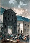 The Pillage of the Saint-Lazare Convent, 13th July 1789 (aquatint) Postcards, Greetings Cards, Art Prints, Canvas, Framed Pictures, T-shirts & Wall Art by John Leech