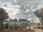 The Luxembourg Gardens (gouache on paper) Wall Art & Canvas Prints by Claude Joseph Vernet