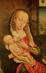 Virgin and Child (oil on panel) Wall Art & Canvas Prints by Parmigianino