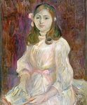 Portrait of Julie Manet Fine Art Print by Mary Stevenson Cassatt