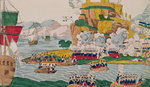 The Taking of Algiers by the French on the 4th July 1830 (coloured engraving) Wall Art & Canvas Prints by French School