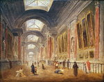 The Grande Galerie of the Louvre Fine Art Print by Giovanni Paolo Pannini or Panini
