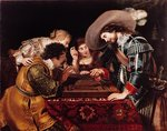 The Game of Backgammon Fine Art Print by Pedro Nunez de Villavicenzio