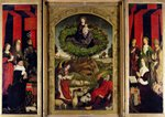 The Triptych of Moses and the Burning Bush, c.1476 Fine Art Print by Leonardo Da Vinci