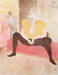 The Clowness Cha-U-Kao Seated, 1896 (colour litho) Fine Art Print by Henri de Toulouse-Lautrec