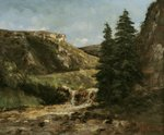 Landscape near Ornans, c.1858 (oil on canvas) Wall Art & Canvas Prints by Carl Morgenstern