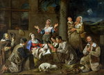 Adoration of the Shepherds, c.1659 (oil on canvas) Wall Art & Canvas Prints by Guido Reni
