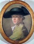 Self Portrait, c.1780 (pastel) Wall Art & Canvas Prints by Robert Lefevre