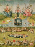 The Garden of Earthly Delights: Allegory of Luxury, central panel of triptych, c.1500 Fine Art Print by Hieronymus Bosch