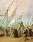 Departure of Christopher Columbus Fine Art Print by Philippe de Champaigne