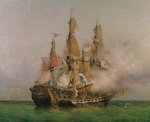 The Taking of the 'Kent' by Robert Surcouf Fine Art Print by Alexandre Debelle