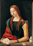 St. Mary Magdalene, 1500-10 (oil on panel) Fine Art Print by Alessandro, Araldi