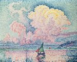 Antibes, the Pink Cloud, 1916 (oil on canvas) Wall Art & Canvas Prints by Paul Gauguin