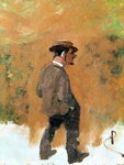 Henri de Toulouse-Lautrec (1864-1901) aged 19, 1883 (oil on canvas) Fine Art Print by Henri Joseph Constant Dutilleux