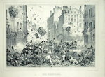 Rue Saint-Antoine in July 1830, engraved by H. Delaporte (litho) Wall Art & Canvas Prints by Charles Monnet