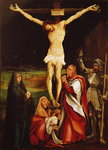 Calvary (oil on panel) Wall Art & Canvas Prints by Master of the Pieta of Saint Germain