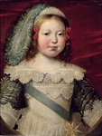 Portrait of Louis XIV (1638-1715) as a child, c.1641-42 (oil on canvas) Fine Art Print by Jean-Marc Nattier