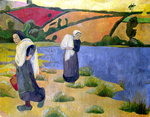 Washerwomen at the Laita River, near Pouldu, 1892 Fine Art Print by Paul Serusier