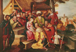 The Adoration of the Magi (oil on canvas) Fine Art Print by Bernardino Luini