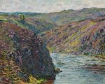 Ravines of the Creuse at the End of the Day, 1889 (oil on canvas) Wall Art & Canvas Prints by Claude Monet