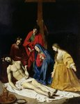 The Descent from the Cross Fine Art Print by Master of the Pieta of Saint Germain