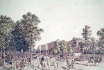 The Grands Boulevards in 1804 (coloured engraving) Wall Art & Canvas Prints by Constantin Guys