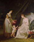 The Breastfeeding Mother (oil on canvas) Wall Art & Canvas Prints by Jean Laurent Mosnier