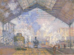 The Gare St. Lazare, 1877 (oil on canvas) Wall Art & Canvas Prints by Claude Monet