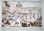 Attack on the Tuileries, 10th August 1792 (coloured engraving) Wall Art & Canvas Prints by Lesueur Brothers