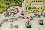 The Arrival of the English in Virginia, from 'Admiranda Narratio..', 1585-88